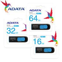 ADATA UV128 16GB / 32GB / 64GB USB 3.1 Capless Design USB Flash Pen Drive BLACK