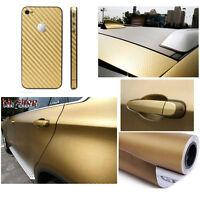 """12""""x60"""" 3D Carbon Fiber Sticker Vinyl Wrap Sheet Film For Car Truck Phone Decal"""