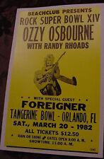 Randy Rhoads Ozzy Osbourne Concert Poster roads rhodes 1982 Tour 80s art Florida