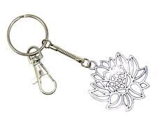 0462 - Lotus Flower Key Ring / Keychain Bag Charm Zipper Fertility Symbol Charm