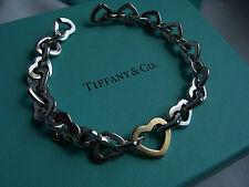 """TIFFANY & CO. 925 & 750 """"HEART LINK"""" BRACELET!!!"""