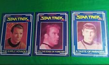 FILES MAGAZINE The Star Trek Files lot of three Early Voyages Taste of Paradise