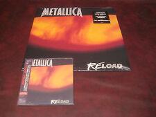 METALLICA RELOAD RARE JAPAN REPLICA GATEFOLD JACKET CD + 1997 ORIGINAL VINYL LP