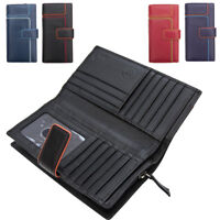 Ladies Extra Large Genuine Leather RFID Blocking Organiser Clutch Wallet Purse