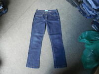"George Straight Jeans Size 12 Leg 30"" Faded Dark Blue Ladies Jeans"