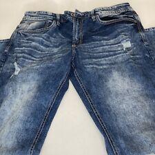 Buffalo David Bitton Mens Ash-X Jeans Blue Size 36x32 Slim Fit Stretch