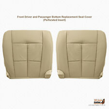 2007 to 2014 Lincoln Navigator DRIVER & PASSENGER Bottom Leather Seat Cover TAN