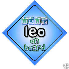 Baby Leo On Board Car Sign New Boy/Birthday Gift