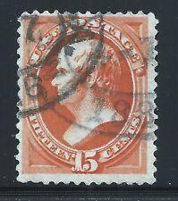 Scott #152, Single 1870 Webster 15c FVF Used