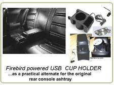 Pontiac  Firebird Trans Am USB power CUP HOLDER for rear console 1971-77