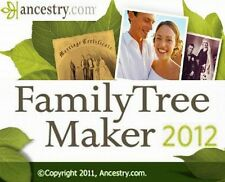 FAMILY TREE MAKER 2012 w/Companion Guide Ancestrycom Geneology Program BRAND NEW