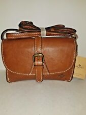 Patricia Nash Torri Cross-body Purse Tan Small Tan Italian Leather NWT W21
