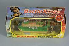 R&l diecast: matchbox battle kings hover raider K105 boxed, military hovercraft