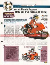 HONDA JAPAUTO 1000 VX Bol D'Or 1975 CB 750 Four Joe Bar Team Fiche Moto #003496