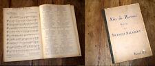 126 airs de revues recueil n°6 pour chant Francis Salabert 1927