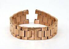"""Cabochon 18MM Stainless Steel Watch Bracelet Band 7"""" ROSE GOLD for Papillon NEW!"""