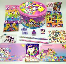 Vtg Lisa Frank Kitty Cats Easter Egg Tin Stickers Pencils Notebook +More Animals