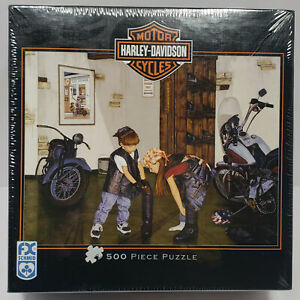 Harley Davidson FX Schmid (500 pc) Puzzle #81348 NEW SEALED RARE