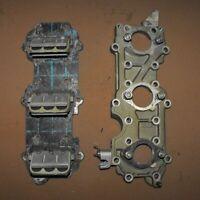 DK7T17673 Johnson 65 HP Intake Manifold & Reeds PN 0385140 Fits 1972-1981