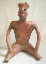 Monumental Pre-Columbian Nayarit Seated Male Figure