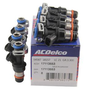 8 PCS Upgrade Fuel Injectors For 99-07 Chevy Silverado 4.8L/5.3L/6.0L 25317628