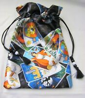 Tarot Themed Wicca Pagan Tarot Card Drawstring Mojo Bag Pouch ~ FREE SHIPPING