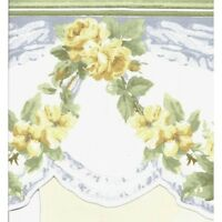 SALE...23 feet of Yellow Roses with Blue Swag Wallpaper Border CH77637DC