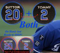 Tommy Lasorda + Don Sutton Patch Los Angeles Dodgers LA Baseball Jersey Patch
