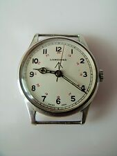 "VINTAGE MILITARY MANUAL WINDING ""FIXED PIN"" LONGINES WRIST WATCH"