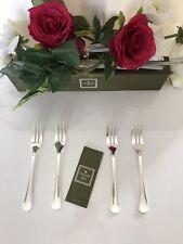 Christofle modèle Luc LANEL - 4 fourchettes à gâteau en métal argenté