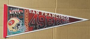 1994 SAN FRANCISCO 49ERS NFC CHAMPIONS Pennant