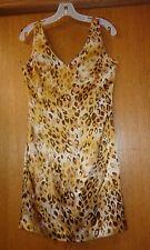 Woman's sz 4 - Leopard Print DRESS - Blushe Impressions - 100% Silk, plus lining