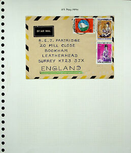 BURMA MYANMAR 1994 COSTUME NUTRITION CONF. 3v ON A/M COVER TO GB