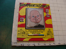 vintage toy: PAPER MAGNETIC CHARLEY very clean Made in Japan,
