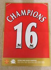 MANCHESTER UNITED CELEBRATION POSTER CHAMPIONS 16 2006/07 DOUBLE SIDED MAN UTD