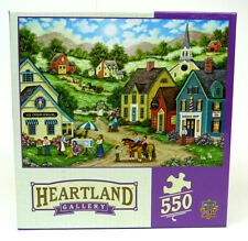 Master Pieces Heartland Gallery Double Dip 550 Piece Puzzle Bonnie White Sealed