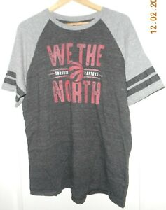 "Fanatics Brand Men's Toronto Raptors ""We The North"" Black/Gray XL T-Shirt -EUC!"