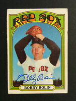 Bobby Bob Bolin Red Sox signed 1972 Topps baseball card #266 Auto Autograph 1
