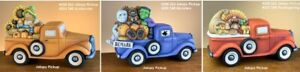 Jalopy Pickup Truck and Inserts Halloween Thanksgiving Ceramic Bisque UNPAINTED