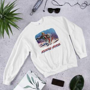 Kicking Horse, Golden Skiing Shirt Retro Ski Skier Vintage Retro Sweatshirt