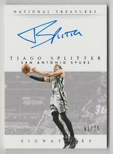 2014/15 NATIONAL TREASURES TIAGO SPLITTER SIGNATURES AUTOGRAPH 61/75 CARD #S-TS