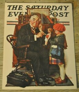 Norman Rockwell Blank Card Print From The Saturday Night Evening Post..