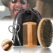 Beard Grooming & Trimming Kit for Men Care Beard Mustache Brush Comb Set Gift