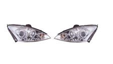 Ford Focus MK2 2001 - 2005 Black Angel Eye Projector Head Lights - 1 Pair