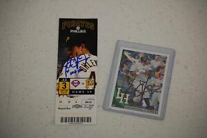 Pedro Alvarez Autographed Signed Topps Debut Card & 1st MLB HR Ticket Stub NICE!