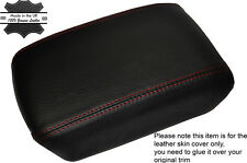 RED STITCHING LEATHER ARMREST SKIN COVER FITS NISSAN X-TRAIL T31 2008-2014