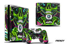 Skin Decal Wrap For PS4 Slim Playstation 4 SLIM Console + Controller Stickers FZ