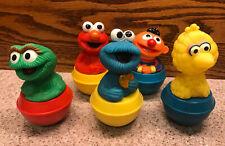 5 Roly Poly Weeble Wobble Sesame Street Ernie Big Bird Cookie Oscar Elmo  Illco