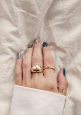 Damen Ring Edelstahl Herz Heart Love Liebe Siegelring Gr. 55 Goldfarbe