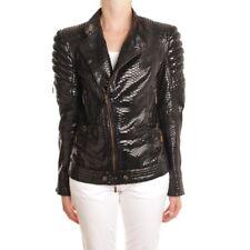 JUST CAVALLI Lederjacke Gr. DE 36 IT 42 Schwarz Damen Jacke Coat Blouson Leder